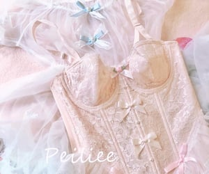 bodice, lace, and pink image