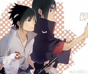 itachi, sasuke uchiha, and uchiha image