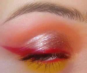 glitter, makeup, and red image