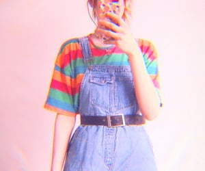 fashion, overalls, and selfie image