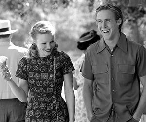 blackandwhite, movie, and couple image