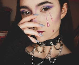 aesthetic, edgy, and makeup image