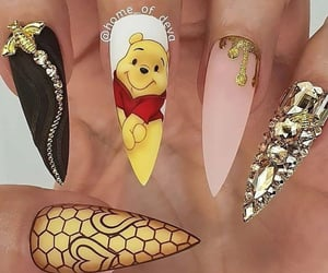 beauty, disney, and nails image