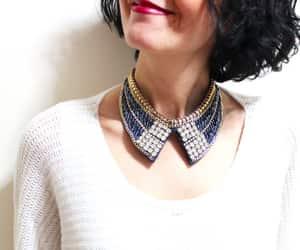 collar, fashion, and bib necklace image