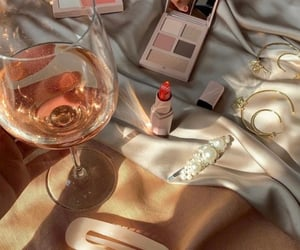 makeup, aesthetic, and wine image