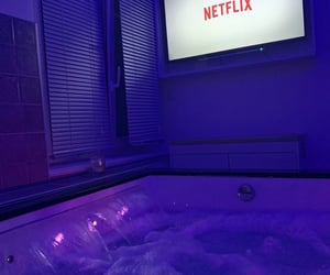 netflix, purple, and blue image