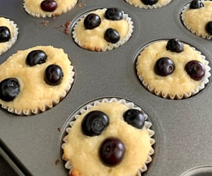 baking, cute, and blueberries image