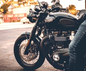 adventure, travel, and motorcycle image