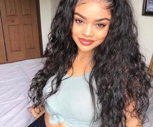 body, brown skin girl, and selfie image