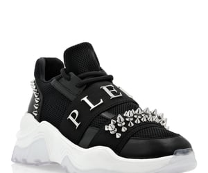 black, sneakers, and studs image