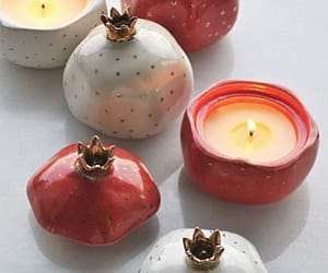 candles, decor, and pomegranate image