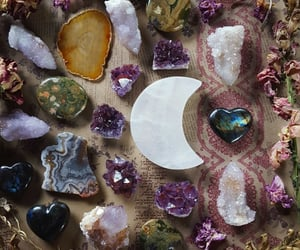 witch, crystals, and gemstones image