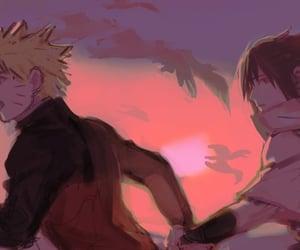 naruto, sasuke, and boyslove image