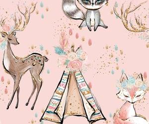 animal, background, and deer image