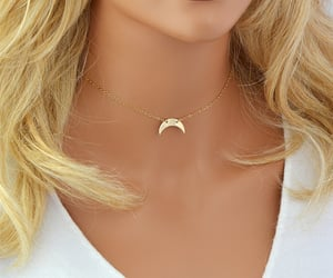 crescent moon, etsy, and moon jewelry image