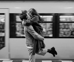 black and white, couples, and couple couples image