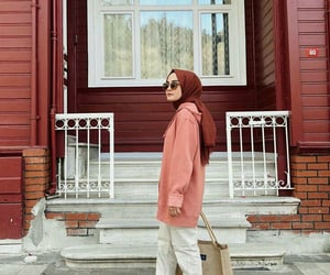aesthetic, hijab, and outfits image