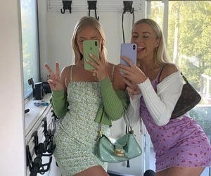 girl, aesthetic, and green image