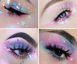 arte, eye makeup, and blue image