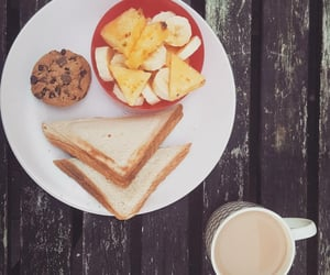 ananas, breakfast, and toast image