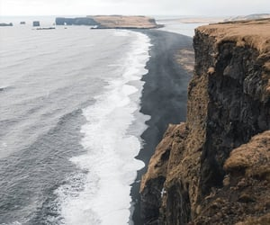 beach, cliff, and iceland image