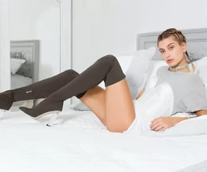 blonde, girl, and model image
