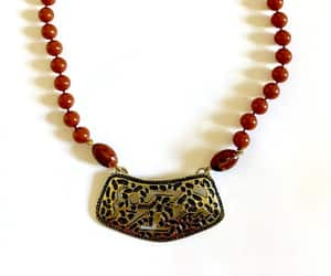 etsy, tribal jewelry, and boho necklace image