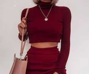 accessories, bracelets, and burgundy image