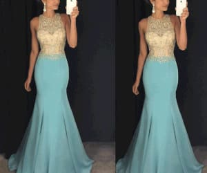 robe de soirée, mermaid evening dress, and elegant evening dress image