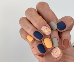 blue, grey, and manicure image