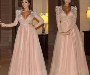 prom gowns, pink prom dress, and vestido de festa image