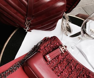 red, chanel, and bag image