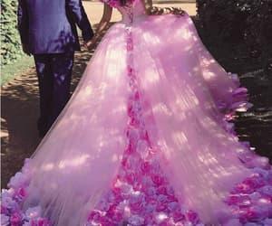 boho wedding dress, wedding ball gown, and pink wedding dress image