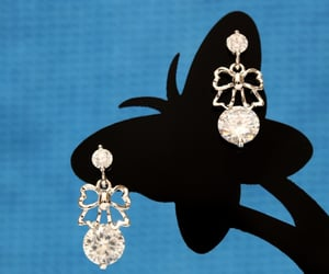 silver stud earrings, hkzoemall zoemall jewelry, and charm crystal rhinestone image