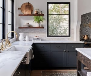 home, kitchen, and black image