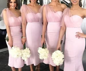 wedding party dresses, cheap bridesmaid dress, and pink bridesmaid dresses image