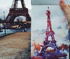 art, paris, and eiffel tower image