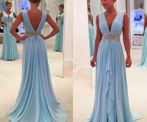 evening dresses, prom dresses long, and blue prom dress image