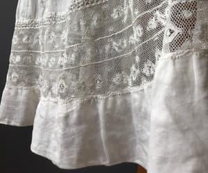 tea dress, white lace dress, and boho wedding image