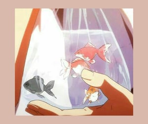 aesthetic, anime, and fish image