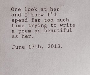 her, quote, and she is beautiful image