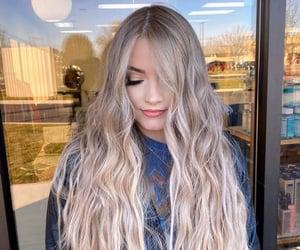 beautiful, girl, and wavy hair image