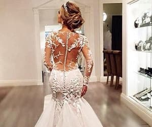 mermaid, long sleeves, and tulle sexy long ivory image