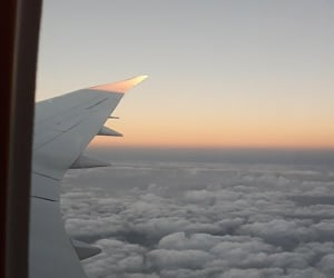 aesthetic, air, and airplane image