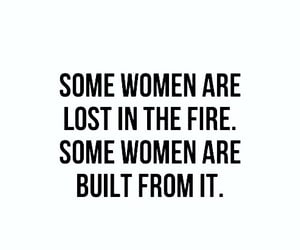 woman, quotes, and fire image