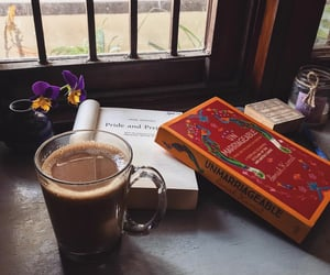 books, cafe, and read image