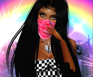 black girl, icon, and imvu image