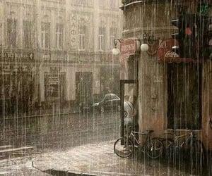 rain and city image