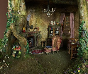 dolls house, faery, and fairy house image
