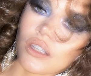 blurry, eyeshadow, and jewelry image